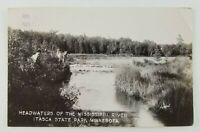 Postcard Real Photo Headwaters Mississippi River Itasca State Park Minnesota