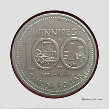 1974 Canada1$ Dollar Winnipeg Nickel Coin Circulated (DC74)