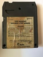 8-track tape Cartridge Ted Nugent Double Live Gonzo Tested