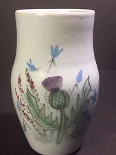"Buchan Pottery Thistle Ware Vase 77/6 Portobello Scotland Stoneware 5 3/4"""