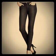 H&M BLACK COATED SKINNY JEANS size 31
