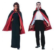 "45"" Reversible Black or Red Cape Vampire Cloak Costume - Adult Halloween Cape"
