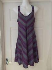TEHAMA Dress Purple/Blue/Turquoise Stripes Sports Wear Summer Classic Size Small