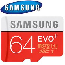 Samsung Memory 64GB EVO+ TF Card Micro SD Card Class 10 with Adapter UK BK