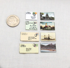 Mail Envelopes And Postcards in Miniature Playscale 1:6 Scale