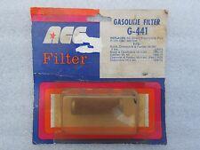 "NOS ""ACE G-441 GASOLINE FILTER"" GM ~ ORIGINAL PACKAGE UNOPENED"