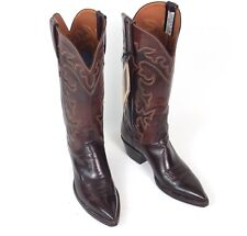 Lucchese Dark Brown Cowboy Boots - Women's 6B New with Tags Billy Martins
