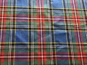 tartan blue green red fabric width 84cm x length 72 cm