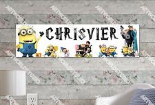 Personalized/Customized Minions Name Poster Wall Art Decoration Banner