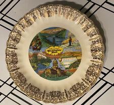 China Plate Souvenir Of Washington State