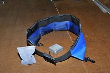 ROYAL BLUE SCUBA DIVING DIVE SNORKEL WEIGHT BELT. LARGE 6 POCKET. MADE IN USA