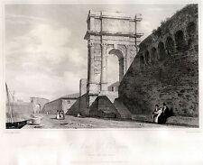 ANCONA:ARCO DI TRAIANO.Marca Anconitana.Stato della Chiesa.HAKEWILL.ACCIAIO.1818
