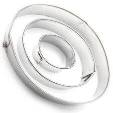 Cortador De Galletas Set (3 un.) Forma Oval De Metal Fondant Cake Decorating