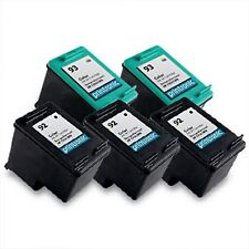 5pk Printronic For Hp 92 93 C9362WN C9361WN Black Color Ink Cartridge