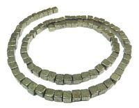 😏 Pyrit Perlen 4 mm Würfel Edelsteinperlen Strang für Kette / Armband beads 😉