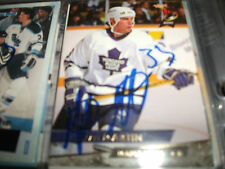 MATT MARTIN AUTOGRAPHED 1993-94 ULTRA FLEER # 432 TORONTO MAPLE LEAFS U OF MAINE