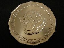 1991 50c UNCIRCULATED RAMS HEAD COIN TAKEN FROM SECURITY BAG
