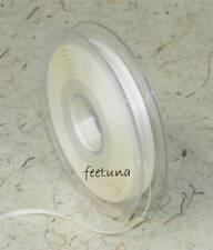 10m Satinband (0,29€/m) Schleifenband 3mm Hochzeit creme Double-Face Luxus Satin