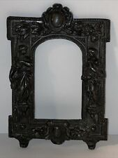 Antique Small Metal Photo Frame W/ Ornamental Greek Decor