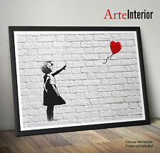 STAMPA FINE ART Banksy RAGAZZA COL PALLONCINO (Girl with a balloon) POSTER