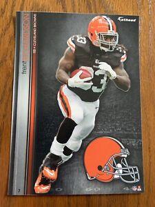 TRENT RICHARDSON 2013 Cleveland Browns uni w/ Logo Fathead Mini Card #7 L@@K