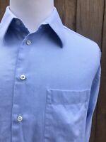 Armani Collezioni Blue Micro Striped Men's Dress Shirt Size Large