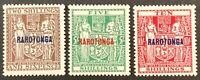 Rarotonga. NZ Fiscal OPTD Stamps. SG95/97. 1931. Unused LM. #AF68