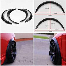 4 x Car SUV Polyurethane Body Wheel Eyebrow Fender Flares Flexible Durable Black