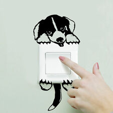 """(#68) PUPPY Light Switch or Outlet Sticker Set 4.25"""" x 3"""" Head"""
