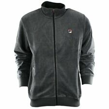 Fila Velour Jacket Mens Charcoal Gray New with tags LM143KE6-074 NEW WITH TAGS