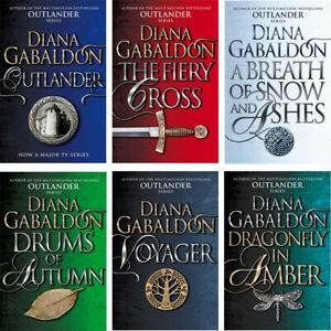 Outlander Series 1 Diana Gabaldon Collection 6 Books Set Drums Of Autumn, Fiery