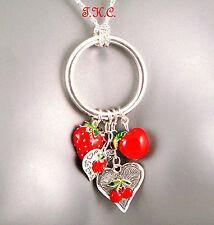 Love Hearts Enamel Alloy Fashion Necklaces & Pendants