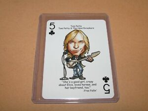 TOM PETTY & THE HEARTBREAKERS ROCK N ROLL HALL OF FAME PLAYING CARD