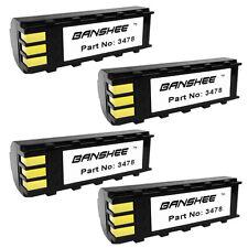 4 Batteries for Symbol 21-62606-01, Btry-Ls34Iab00-00, Ds3478, Ls3478, Ls3578