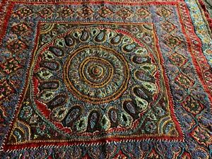 Early Antique Hand Embroidered Kashmir Paisley Fragment