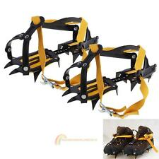 10 Teeth Anti Slip Ice Snow Boot Shoes Spike Grips Crampons Grippers Climbing