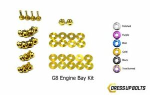 Dress Up Bolts for Pontiac G8 V6 GT GXP 2008-2009 Titanium Engine Bay Kit Gold
