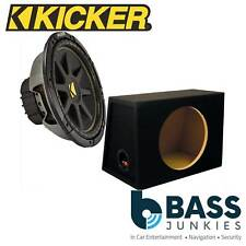 "KICKER CWS124 CompS 12"" 30cm 600 WattsCar Van Sub Subwoofer & MDF Sub Bass Box"