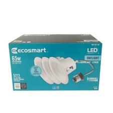 Ecosmart 4 in. LED Integrated Recessed Daylight Trim White (6-pack) 9w = 65wats