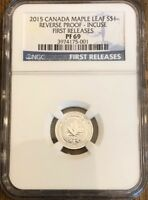 2015 Canada S$1 Maple Leaf Reverse Proof Incuse Early Release NGC PF69
