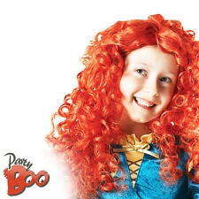 Childs Merida Wig Disney Brave Fancy Dress Fairytale Princess Costume Girls Wig