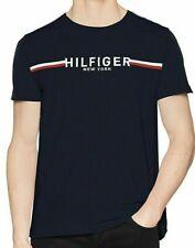 Tommy Hilfiger Herren Original T-Shirt Striped  Organic Cotton Tee Neu-Navi/G-L