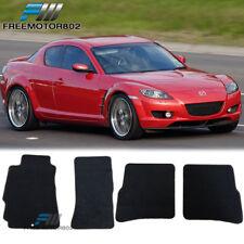 For 04-12 Mazda Rx8 4Dr Black Nylon Floor Mats Carpets 2PC