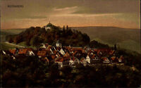 Rotenberg Stuttgart Untertürkheim ~1910 color AK Verlag Emil Roth in Esslingen