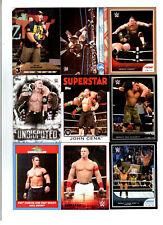 John Cena Wrestling Lot of 9 Different Trading Cards 3 Inserts WWE JC-G2