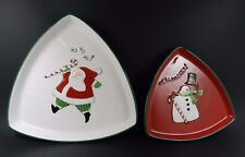 Fitz and Floyd Merry Christmas Nested Tray Set - Set of 2