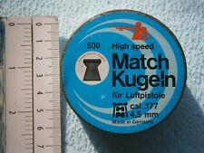 MATCH KUGELN TIN BOX METAL CASE bullet shot air-rifle AIR-GUN PELLET PELLETS