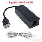 USB 56K External Dial Up Voice Fax Data Modem Windows 10 / 8 / 7 / XP / Vista