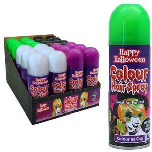 4 Colours Pack Halloween Hair Spray Temporary Washable Fun Party Christmas 200ml