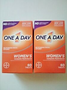 One A Day Women's Formula Two Packs of 60 Tablets 120 Tablets Total